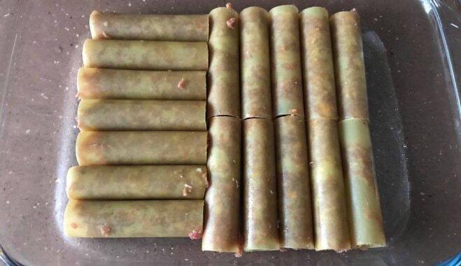 Soli pa solim: kaneloni ar maltās gaļas pildījumu un sieru