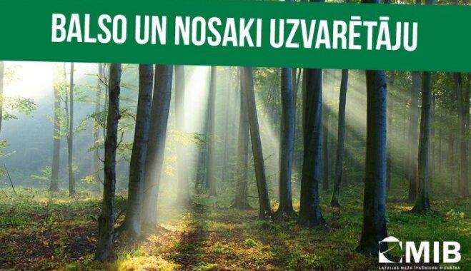 Balso un nosaki foto konkursa 'Sakoptākais mežs' uzvarētāju