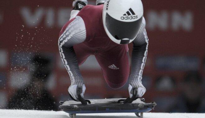Priedulēnas 19.vieta Pasaules kausa posmā pietuvina skeletonisti Soču Olimpiādei