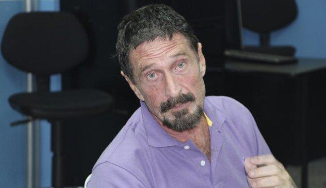 Основатель McAfee пообещал съесть свой пенис, если курс биткоина не достигнет $1 000 000