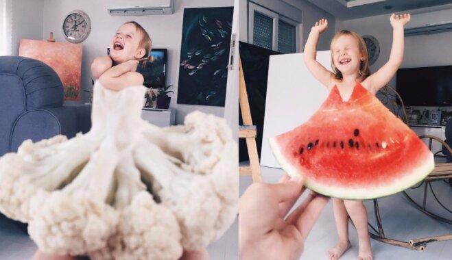 Puķkāposts, arbūzs, margrietiņa – mamma Turcijā savai meitai 'pielaiko' neparastas drēbītes
