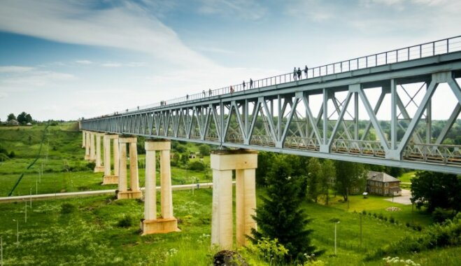 ФОТО. В Литве для туристов откроют Лидувенский мост — самый высокий ж/д мост в стране