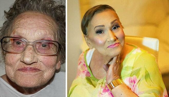 80-летняя бабушка, накрашенная под Ким Кардашьян стала интернет-сенсацией