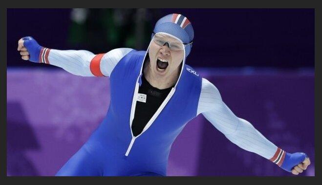 Norvēģis Lorencens ar jaunu olimpisko rekordu kļūst par Phjončhanas spēļu čempionu