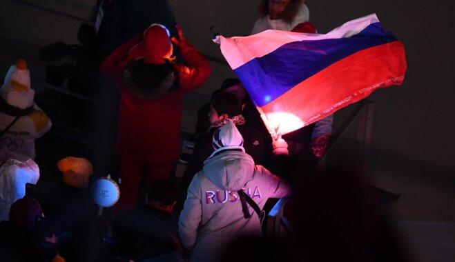 Американец развернул флаг России на церемонии открытия Олимпиады
