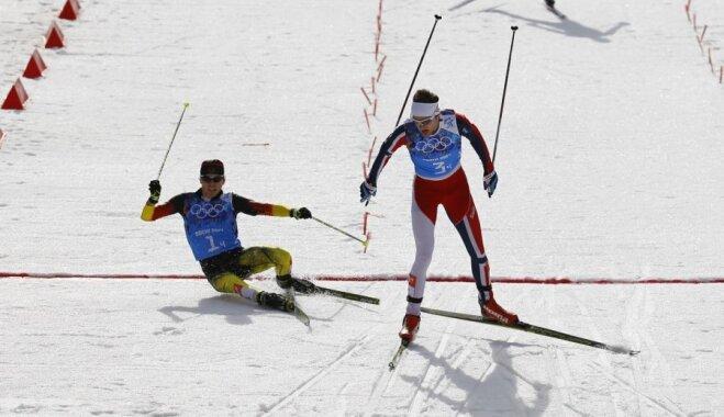 Norvēģija triumfē olimpiskajās ziemeļu divcīņas komandu sacensībās