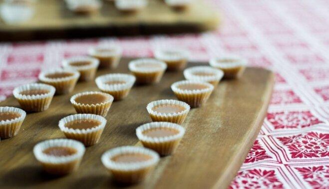 Mājās gatavotas konfektes 'Gotiņas'