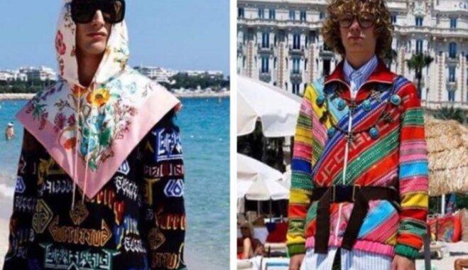 Foto: Saules nogurdināti, bet toties 'Gucci' uzvalkā