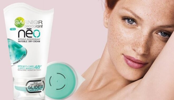 'Garnier' piedāvā revolucionāru inovāciju dezodorantu tirgū – sausā krēma dezodorantu 'Neo'