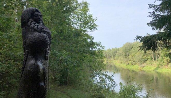 Mitoloģijas taka Skaļupēs, kur iepazīt senās latviešu dievības un nolūkoties uz Gauju