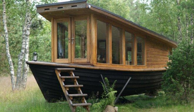 Dzīvot laivā: vienreizējs vietējā meistara dizains brīvdienu mājai