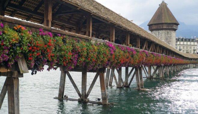 ФОТО. Треугольные картины и пыточная башня. Как выглядит самый старый деревянный мост Европы?