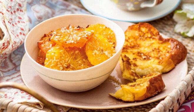 Franču grauzdiņi ar grilētiem citrusiem