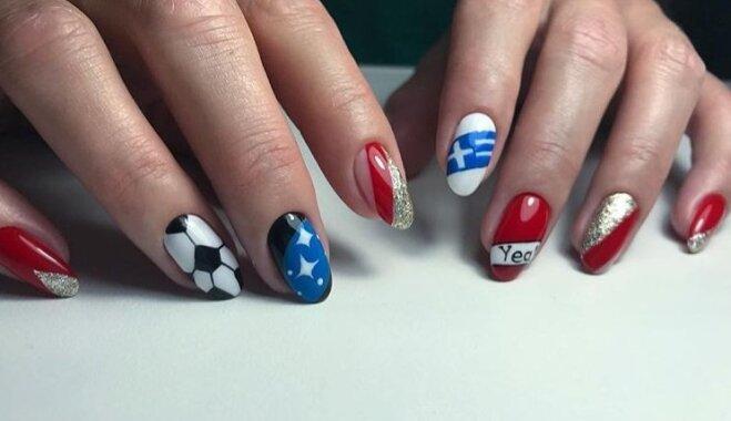 ФОТО. Стильные идеи дизайна ногтей для футбольных болельщиц