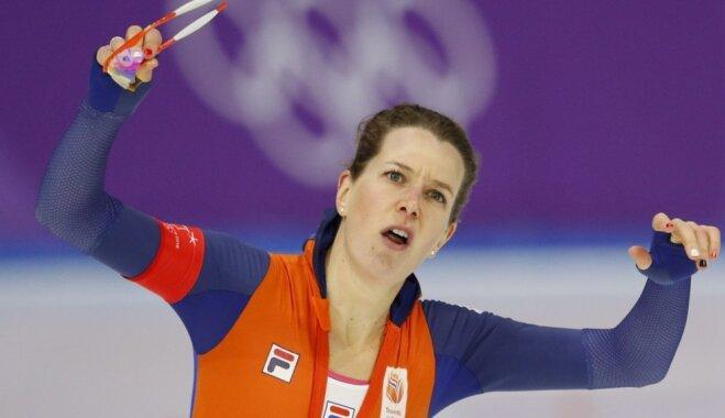 Nīderlandiete Vusta kļūst par pieckārtēju olimpisko čempioni ātrslidošanā