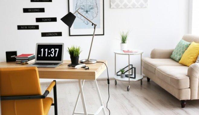 Birojs savā mājoklī! Piecas lietas, kas nepieciešamas darbavietas ierīkošanai