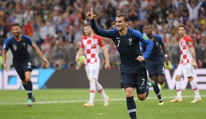 Pasaules kausa ieguvēji Grīzmans, Mbapē un Varāns starp pretendentiem uz FIFA gada labākā spēlētāja balvu