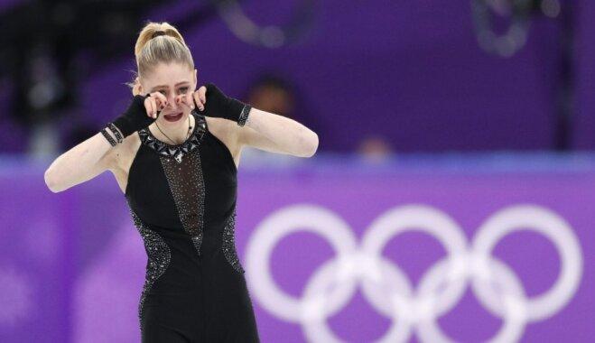 ФОТО: Латвийская фигуристка расплакалась после выступления, а тренер раскритиковал судей