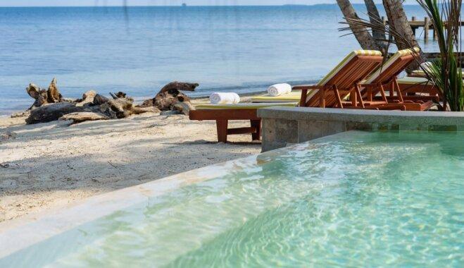 Foto: Miljonu vērta atpūta paradīzei līdzīgā salā