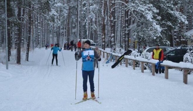 Daugavpilī atklāta izgaismota distanču slēpošanas trase