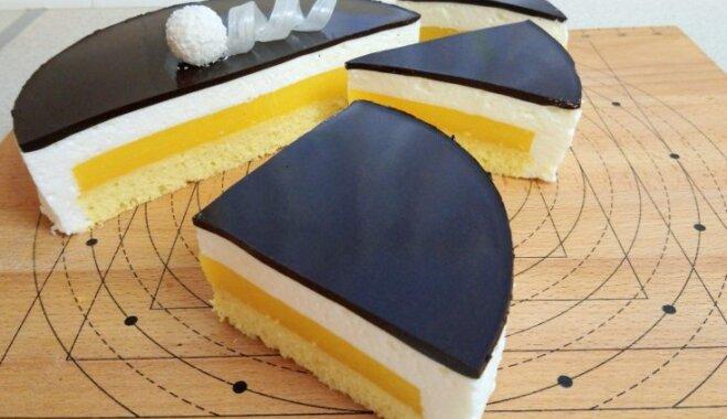 """Торт """"Птичье молоко"""" с манговым желе"""
