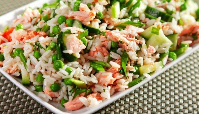 Rīsu salāti ar lasi