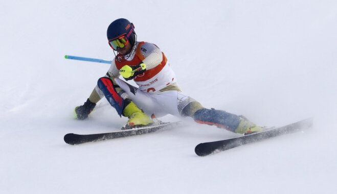 Zvejnieks Alpu kombinācijā izcīna 26. vietu; Hiršers tiek pie pirmā olimpiskā čempiona titula