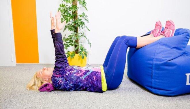 Pieci vingrojumi pret muguras sāpēm. Iesaka fizioterapeite