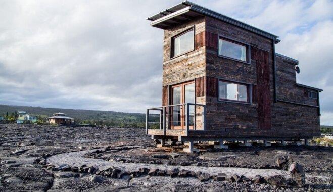 Foto: Neparastā māja Havaju salās, kas uzbūvēta uz pasaulē lielākā vulkāna