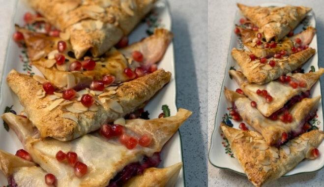 Рецепт на конкурс: Конвертики-пирожки из тонкого теста с начинкой