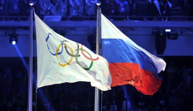 МОК не разрешил российской делегации идти под своим флагом на церемонии закрытия Игр