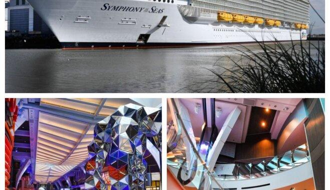 Foto: Kā izskatās lielākajā kruīza kuģī pasaulē, kas jau aprīlī dosies pirmajā braucienā