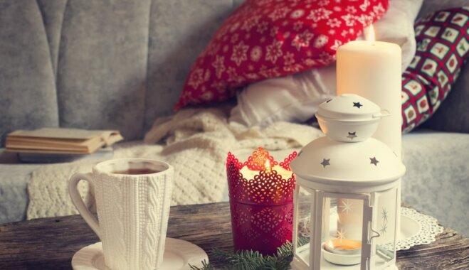 Kā uzburt svētku sajūtu mājās, ja ziema aizkavējusies?