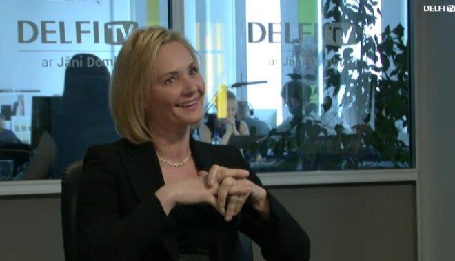 ВИДЕО: Интервью на Delfi TV: Янис Домбурс vs Байба Брока