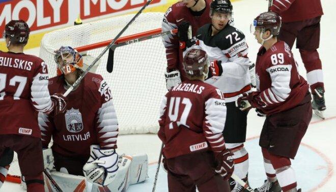 ВИДЕО: Сборная Латвии заработала одно очко в матче группового этапа с канадцами
