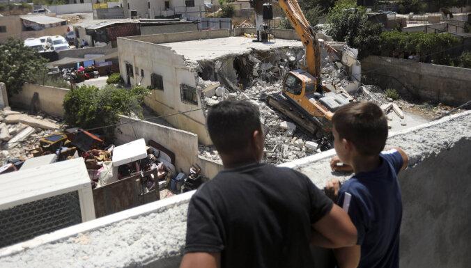 Izraēla Austrumjeruzalemē nojaukusi rekordlielu palestīniešu māju skaitu
