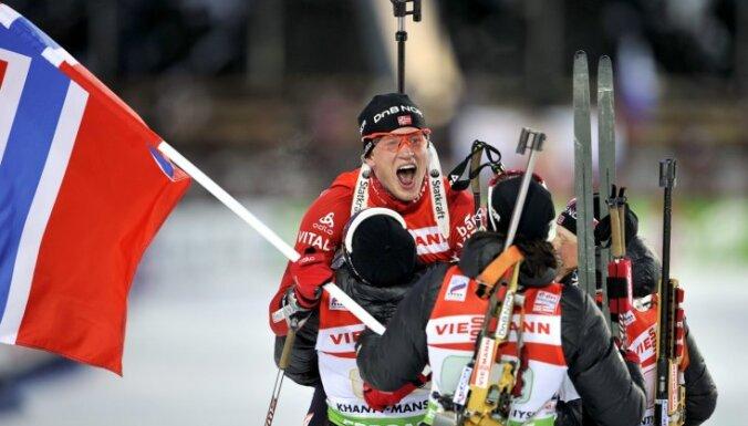 Норвежские биатлонисты напились и оторвались на этапе Кубка мира