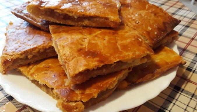 Яблочный пирог из слоеного теста быстрого приготовления