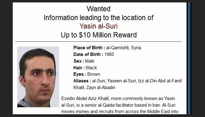 ASV izsludina 10 miljonu dolāru atlīdzību par 'Al Qaeda' finansētāju no Irānas