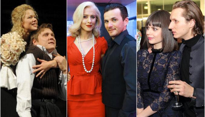 Vienpadsmit spilgtākie Latvijas teātra dzīves mīlas pāri