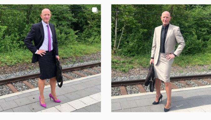 ФОТО. На шпильках и в юбке. Американец выбрал необычный способ борьбы с гендерными стереотипами