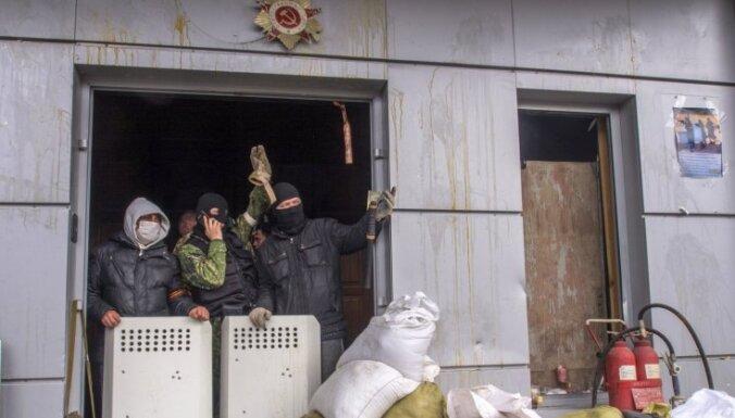 Separātisti Luhanskā ieņem apgabala administrāciju