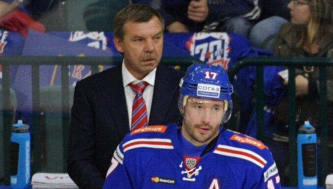 SKA head coach Oleg Znarok, Ilya Kovalchuk