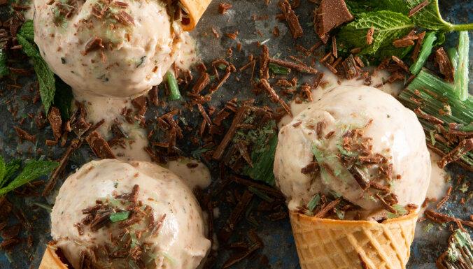 Atsvaidzinošais piparmētru šokolādes saldējums