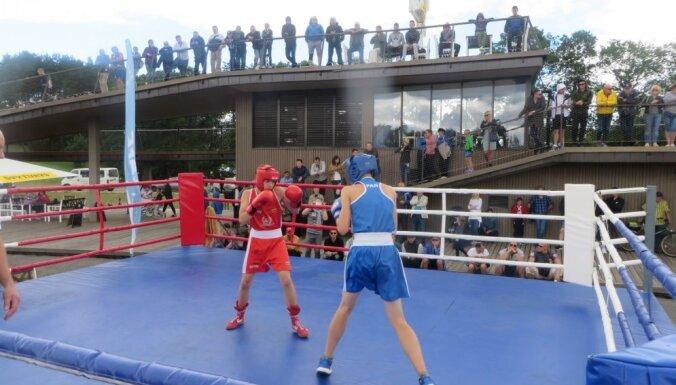 ФОТО: В Зарасае прошел матч Литва — Латвия — Армения по боксу