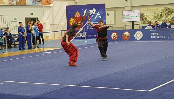 Латвийские мастера кунг-фу взяли 17 медалей на чемпионате Европы в Москве
