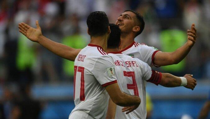 Irānas futbolisti otro reizi vēsturē uzvar Pasaules kausa finālturnīru spēlēs