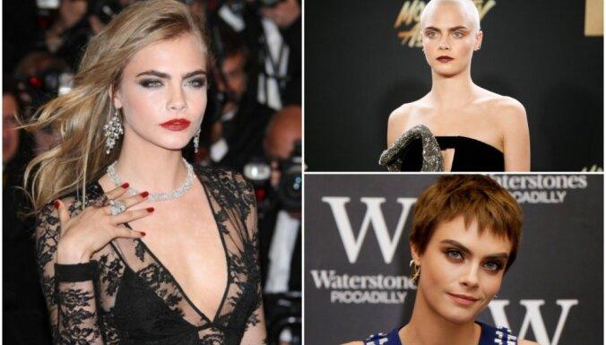 Dumpinieciskā modele un aktrise, kura lomas dēļ noskuva matus – spīdeklis Kara Delevinja