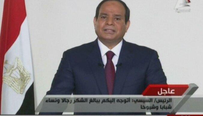 Militārists Sisi oficiāli pasludināts par Ēģiptes prezidenta vēlēšanu uzvarētāju