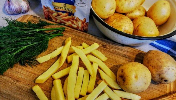 Figūrai draudzīgie frī kartupeļi ar avokado mērci